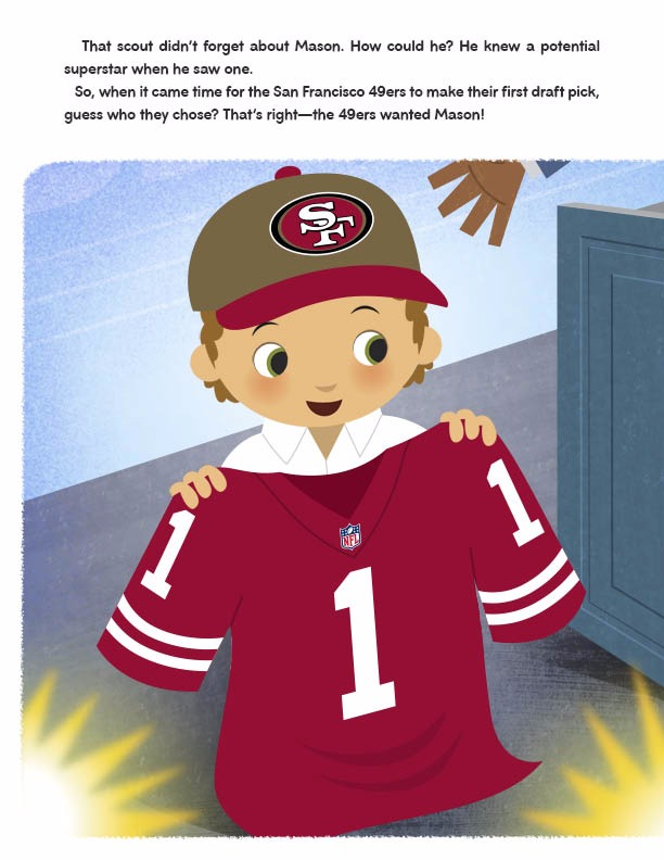 San francisco 49ers nfl football personalized book personalized read it again voltagebd Choice Image